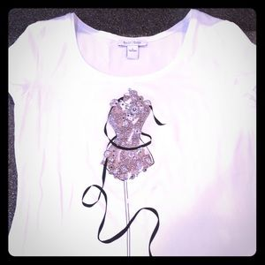 Shirt with embellishments